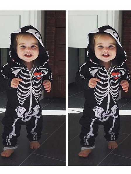 Skeleton Onesie Skull Pajamas Halloween Costumes for Baby