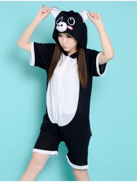 Black Pig Onesie Short Sleeves Pajamas