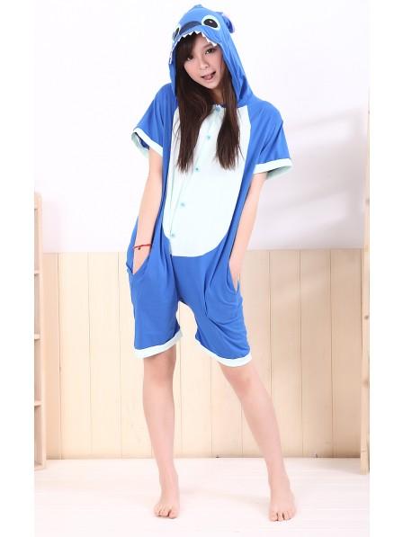 Blue Stitch Onesie Short Sleeves Pajamas