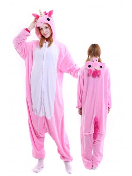 Pink Unicorn Onesie Pajamas Flannel