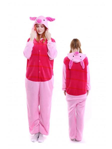 Winnie the Pooh Piglet Onesie Pajamas Flannel