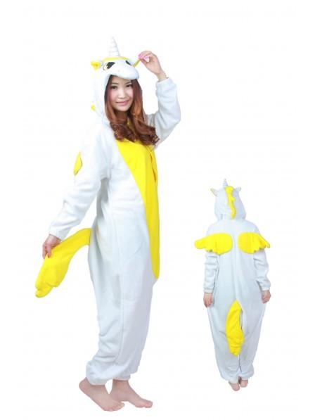Yellow Unicorn Onesie Pajamas Flannel
