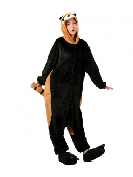 Red Panda Onesie Pajamas Flannel