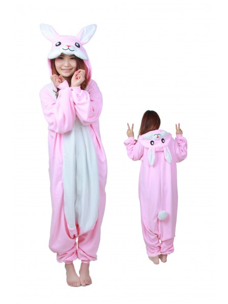 Rabbit Onesie Pajamas Flannel