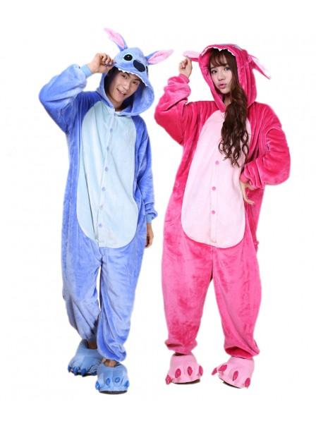 Stitch and Angel Stitch Onesie Pajamas Flannel