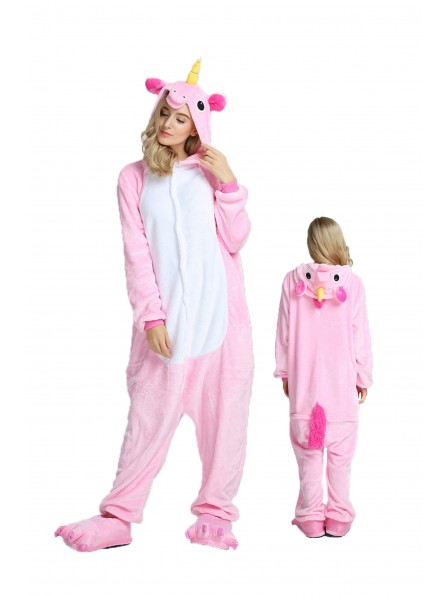 Pink Unicorn Onesie Pajamas Flannel