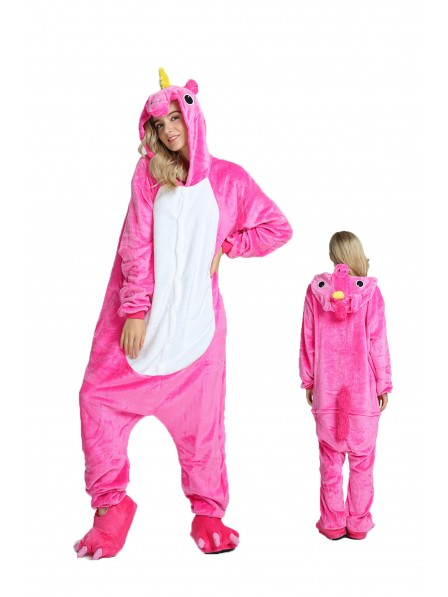 Rose Unicorn Onesie Pajamas Flannel