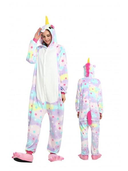 Star Unicorn Onesie Pajamas Flannel