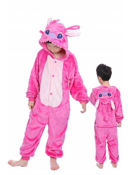 Pink Stitch Anagel Onesie Pajamas for Kids
