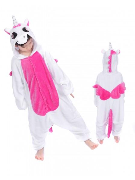 Rose Unicorn With Wings Onesie Pajamas for Kids