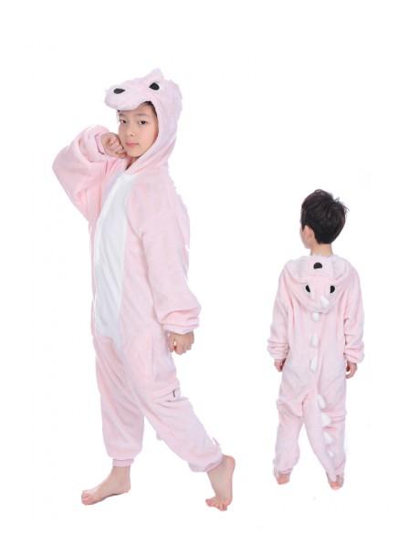Pink Dinosaur Onesie Pajamas for Kids