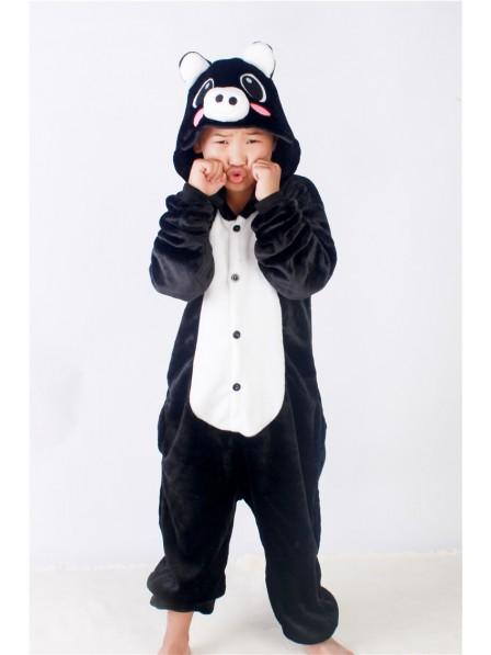 Black Pig Onesie Pajamas for Kids
