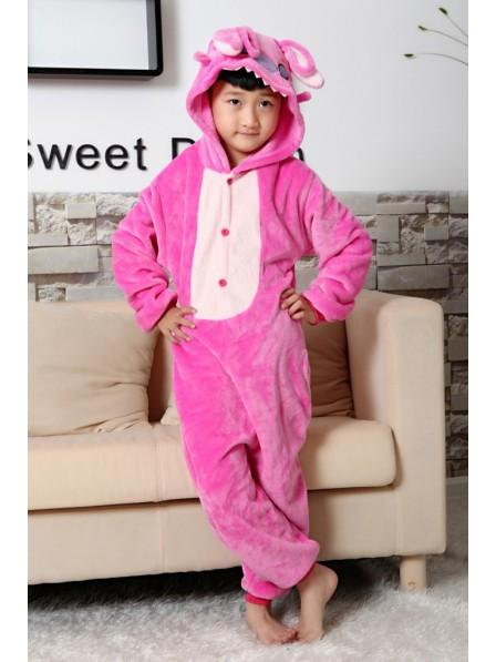 Pink Stitch Onesie Pajamas for Kids