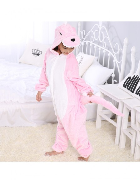 Pink Dinosaur Onesie Pajamas for Kids
