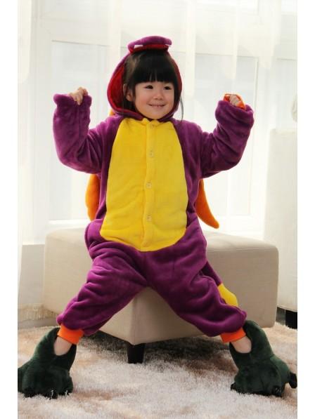 Purple Dragon Onesie Pajamas for Kids