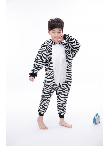 Zebra Onesie Pajamas for Kids
