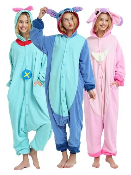 Lilo and Stitch Angel Onesie Pajamas Polar Fleece
