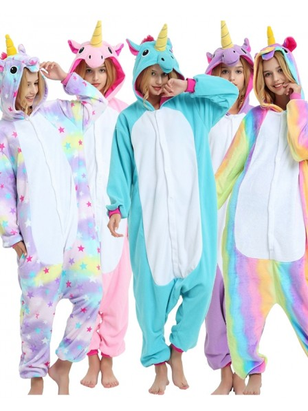 Adult Unicorn Onesie Pajamas Polar Fleece