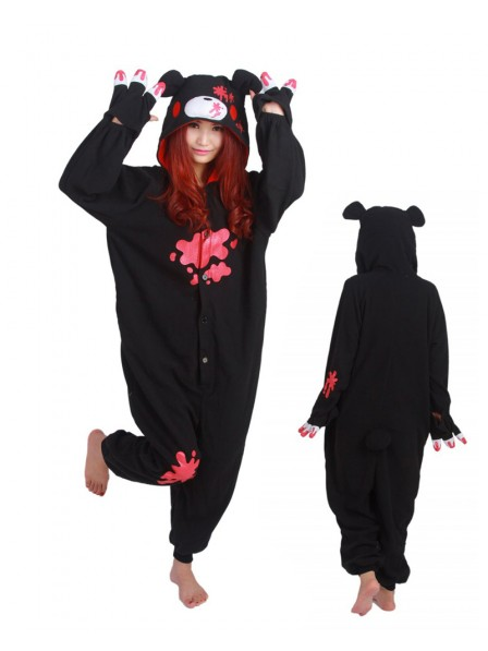 Black Gloomy Bear Onesie Pajamas Polar Fleece