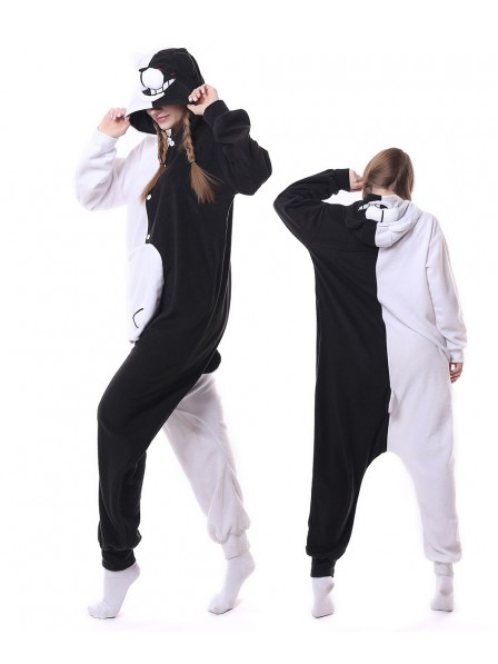 Monokuma Onesie Pajamas Polar Fleece