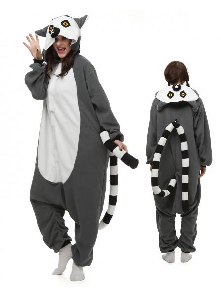 Lemur Onesie Pajamas Polar Fleece