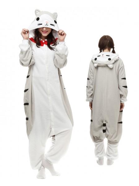 Cheese Cat Onesie Pajamas Polar Fleece