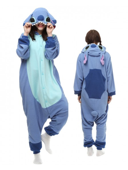 Stitch Onesie Pajamas Polar Fleece