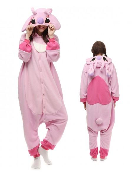 Stitch and Angel Onesie Pajamas Polar Fleece