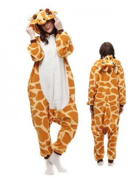 Giraffe Onesie Pajamas Polar Fleece