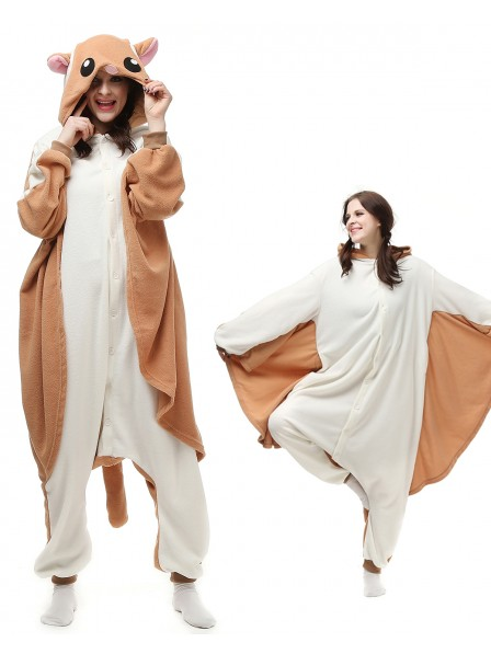 Flying Squirrel Onesie Pajamas Polar Fleece