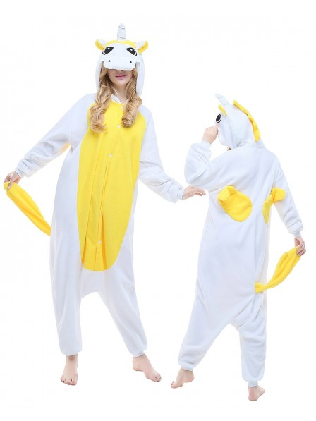 Yellow Unicorn Onesie Pajamas Polar Fleece
