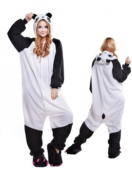 Cute Panda Onesie Pajamas Polar Fleece