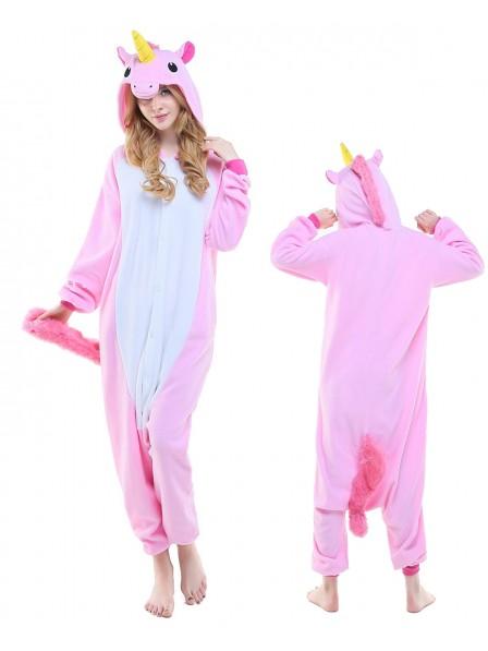 New Pink Unicorn Onesie Pajamas Polar Fleece