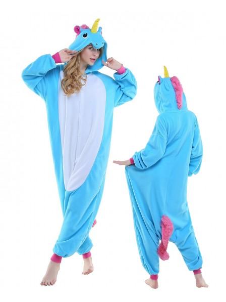 New Blue Onesie Pajamas Polar Fleece