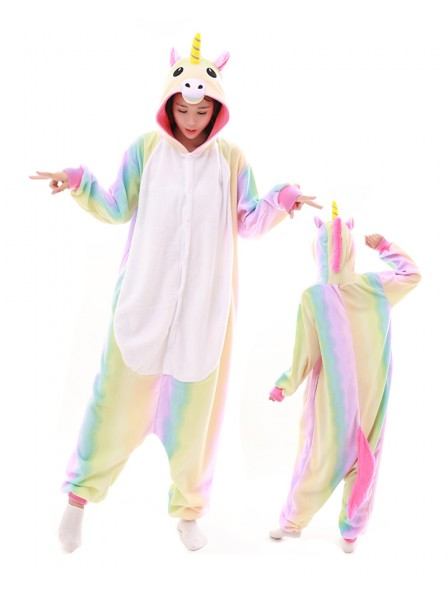 Pastel Hologram Unicorn Onesie Pajamas Polar Fleece