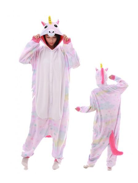 Pastel Dream Unicorn Onesie Pajamas Polar Fleece