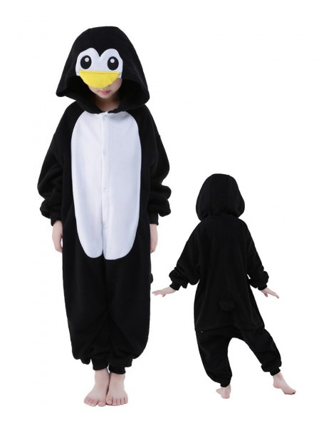 Penguin Onesie Kids Polar Fleece