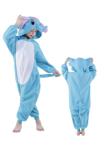 Blue Elephant Onesie Kids Polar Fleece