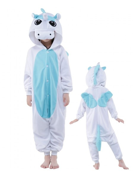 Blue Unicorn Onesie Kids Polar Fleece