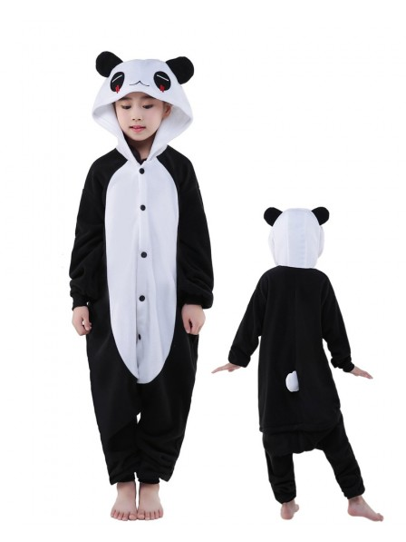 Pandas Onesie Kids Polar Fleece