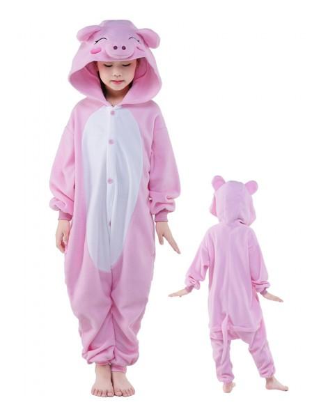 Pink Pig Onesie Kids Polar Fleece