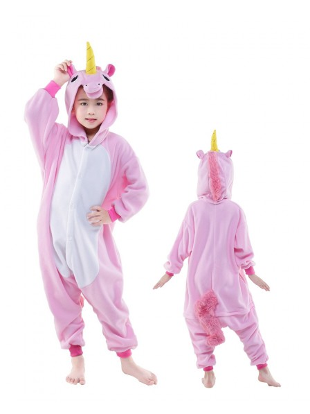 Pink Unicorn Onesie Kids Polar Fleece