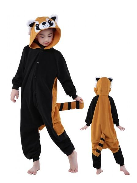 Red Panda Onesie Kids Polar Fleece