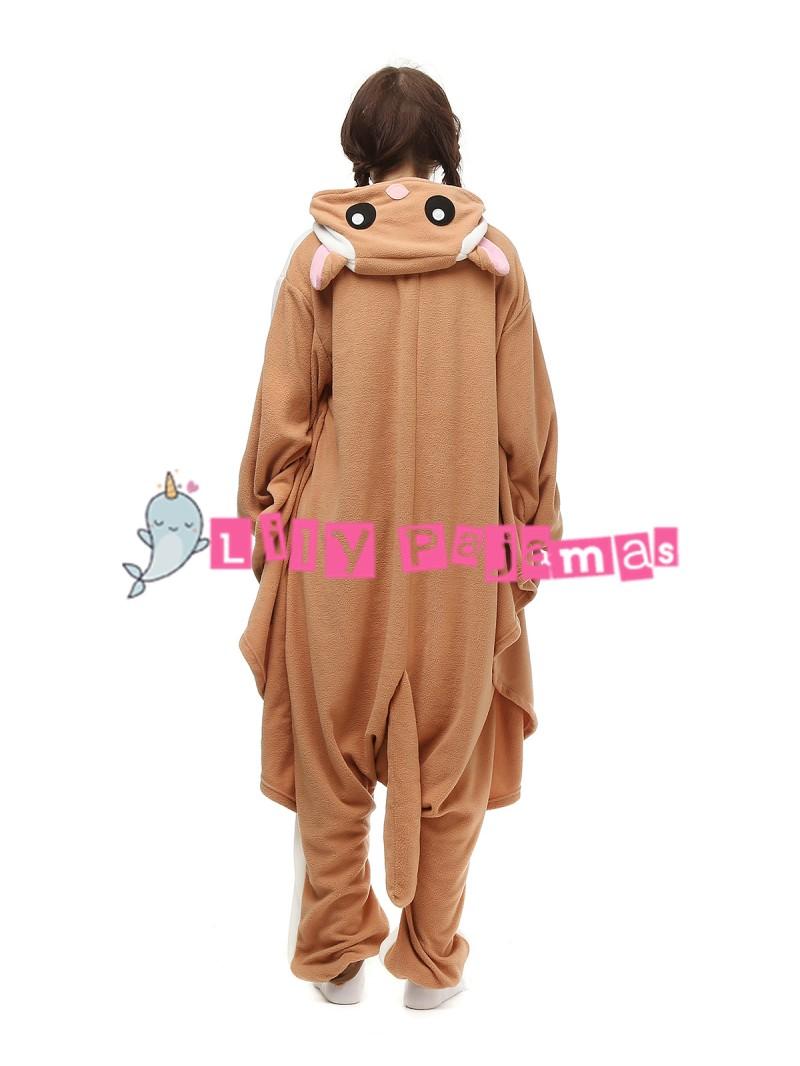 Unisex Adult Onesie0 Animal Flying Squirrel Kigurumi Pajama Cosplay Costume