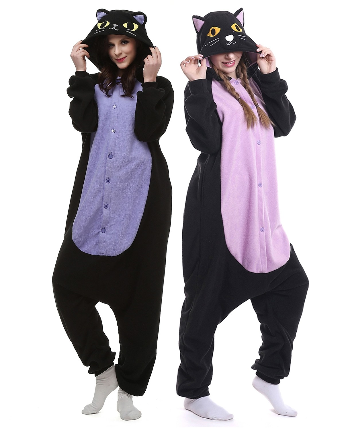 6b5de66c3a Adult Unisex Cat Onesie Pajamas for Women and Men