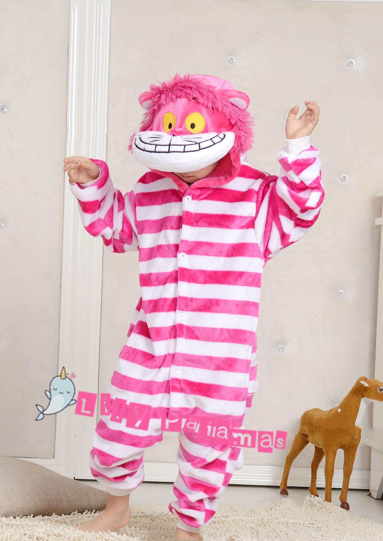 6e462509e Cheshire Cat Onesie Kigurumi Pajamas Kids For Kids | Lilypajamas.com