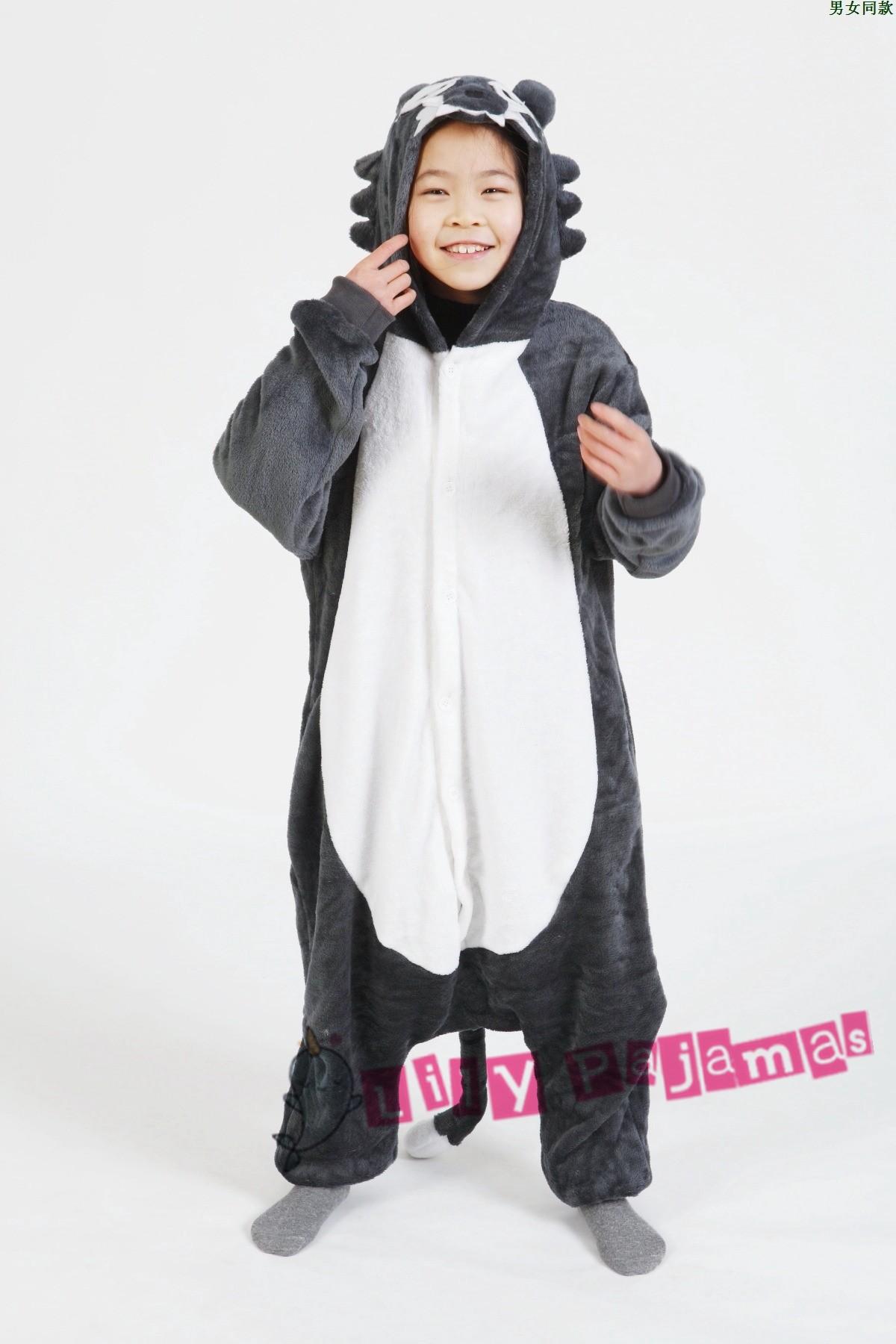 Wolf Onesie Kigurumi Pajamas Kids For Kids Lilypajamas Com
