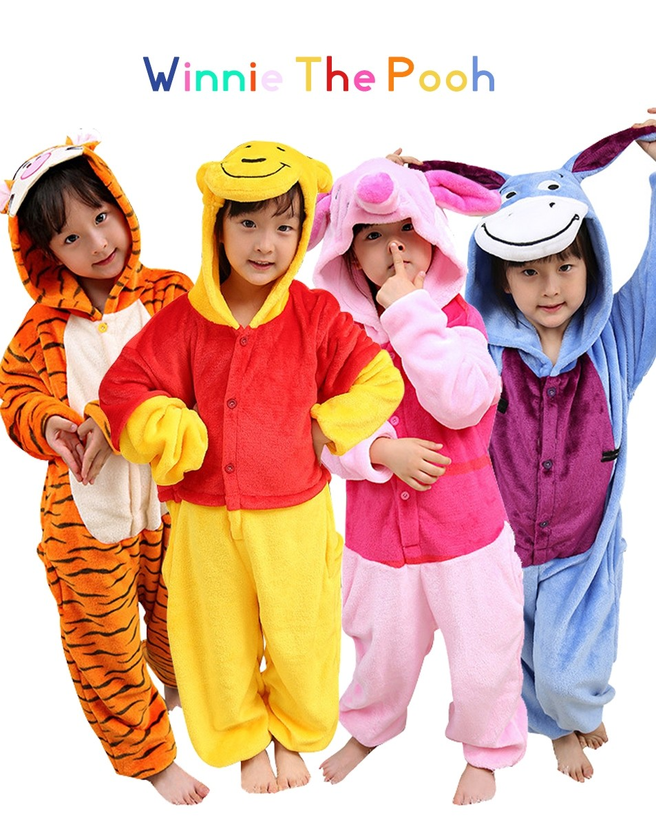 Kids Winnie the Pooh Onesies   Tigger   Piglet   Eeyore Pajamas ... 93f3e131f