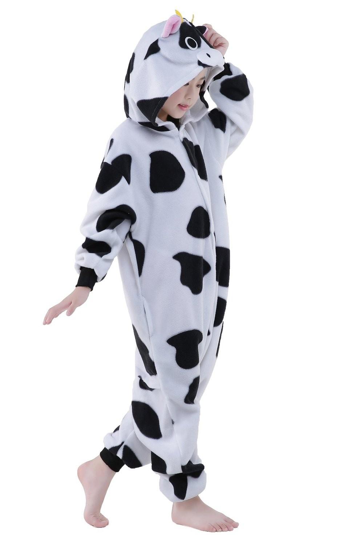 Cow Onesie Kids Kigurumi Polar Fleece For Kids