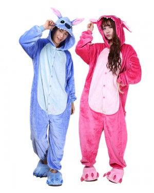 Stitch Onesie For Adults Lilo And Stitch Costume Stitch And Angel Costume Lilypajamas Com